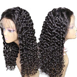 Glueless Lace Wigs Human Hair Deep Water Wave Lace Front Wigs Human Hair with Baby Hair Pre-Plucked Hairline 150 Density Deep Curly Lace Frontal Wigs for Women 100% Unprocessed Virgin Hair Extensions