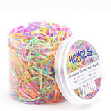 Hoyols Toddler Elastic Hair Ties Small Mini Color Rubber Bands for Baby Girls Kids 2000pcs Bulk