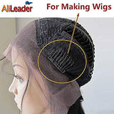 AliLeader 100pcs Black Wig Combs For Making Wig Caps, Steel Tooth Lace Wig Clips, Glueless Wig Clips for Wig