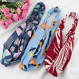 18 Pcs Boho Headbands for Women, EAONE Floral Bandeau Headbands Criss Cross Knotted Hair Wrap Elastic Hair Bands Hair Accessories with 1PC Pouch Bag