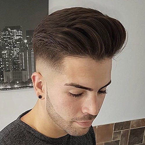 SinoArt Men's Hairpiece Human Hair Toupee Wig Super Thin Skin Hair Replacement Base Size 8