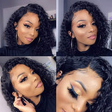 RUISENNA Short Curly Bob Human Hair Wigs 13×6 Lace Front Wigs Brazilian Virgin Black Bob Wigs with Baby Hair