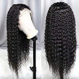 360 lace frontal wig pre plucked with baby hair 20inch Water Wave Lace Front Wigs 180% Density Human Hair Wigs for Women Natural Black Color
