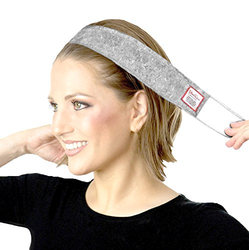 ShariRose Non-Slip Headband Wig Grip Adjustable Hairband for Under headscarves (Silver Gray Velvet)