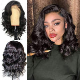Synthetic Lace Front Wigs for Black Women Short Wavy Wig 14 inches