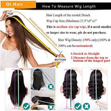 "QTHAIR 10A 360 Lace Frontal Wigs 20"" Pre Plucked with Baby Hair Brazilian Body Wave Human Hair Wigs Natural Hairline for Black Women Natural Balck Color Unprocessed Virgin Brazilian Hair Wigs"
