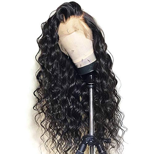 13x6 Lace Front Wig Deep Part Loose Wave Human Hair Wigs with Baby Hair Pre-plucked Hairline Lace Front Wigs for Black Women Natural Color 130% Density 18 inch