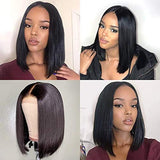 VRZ 13x6 Lace Front Wigs Bob Straight Human Hair Short Wigs for Women Lace Frontal Wigs Pre Plucked with Baby Hair (12 Inch)