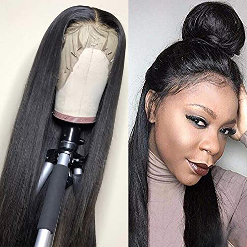 Sterly 360 Lace Frontal Wig Pre Plucked With Baby Hair Lace Front Wigs Human Hair Straight Human Hair Wigs Natural Hairline For Black Women(18inch)