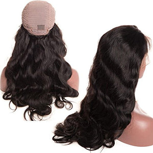 Brazilian Body Wave Lace Front Wigs with Baby Hair for Black Women 130% Density Virgin Remy Body Wave Human Hair Lace Front Wigs 16 inch