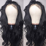 Andrai Hair Lace Front Wigs Glueless Natural Wavy Body Wave Synthetic Heat Resistant Fiber Hair Wig With Baby Hair For Black Women