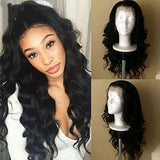 Lace Front Wigs Body Wave Human Hair Wigs Pre Plucked 22 inch Body Wave Lace Front Wigs with Baby Hair 150% Density for Black Women Natural Hair Line Brazilian Body Wave Wig (22, Natural Color)