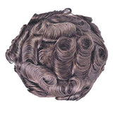 "Full French Soft Lace Human Hair Toupee for Men Soft Wigs, Veer European Virgin Human Hair Mens Replacement Pieces System With 8""X10"" Cap Base Light Brown Color(#4)"