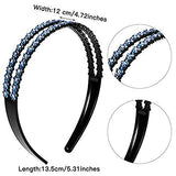 Yeshan Rhinestone Headbands for Women with Teeth Comb Headbands Crystal Non-slip Hair Hoop for Women Girls,Pack of 4