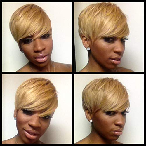 BeiSD Short Blonde Wig Synthetic Short Wigs for, sw911-blonde, Size No Size