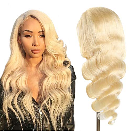 ALI PANDA Blonde 613 Human Hair Wigs Body Wave 13x4 Lace Front Wigs with Baby Hair Pre Plucked Brazilian Lace Frontal Wig for Women Free Part (20 inch wig, 613 blonde)