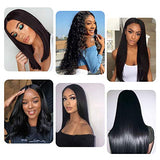 9A straight lace front wigs Brazilian Human Hair Wig with Baby Hair Pre Plucked Natural Hairline Wigs for Black Women (20inch)