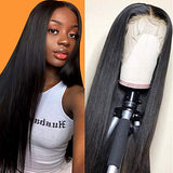 CHEETAHBEAUTY(18inch)Brazilian Straight Lace Front Wigs Human Hair 13x4 Lace Front Wig For Black Women Pre Plucked with Baby Hair Natural Black 150% Density