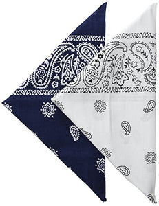 Levi's Men's 100% Cotton Bandana Headband Gift Sets, Navy/White, One Size