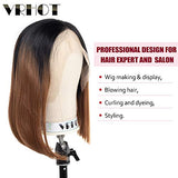 "VRHOT 21""-24"" Wig Head Canvas Block Head Mannequin Afro Wig Head Set with Stand Display Styling Head for Making Wigs Women (Gifts : C Clamp Stand+ T Pins + Wig Cap+ Clips) (23"")"