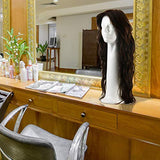 15'' Inch Styrofoam Head Wig Head Mannequin Manikin, Style, Model & Display Women's Wigs, Hats & Hairpieces Stand - Large, by Adolfo Designs