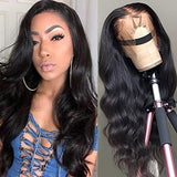 Star Show Unprocessed Brazilian Body Wave Human Hair Wigs 13X4 Lace Front Wigs with Baby Hair 150% Density Pre Plucked Natural Hairline wigs for Black Women (12 inch)