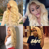 ITODAY 613 Blonde Body Wave Lace Front Wigs 13x4 Brazilian Human Hair Wigs for Women 613 Blonde Lace Frontal Wigs Pre Plucked With Baby Hair 150% Density (12 Inch, 613 Blonde Color)