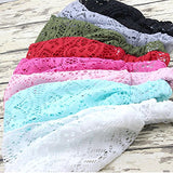 DRESHOW 8 Pieces Women Fashion Lace Elastic Head Wrap Turban Head Band Hair Accessories, 8 Pack B, One Size
