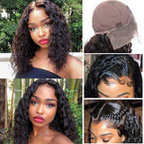 14'' 13x6 Lace Front Water Wave Wigs Human Hair For Women 100% Virgin 12A Glueless Short Water Curly Deep Part Lace Frontal Wigs Pre Plucked