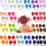 "40pcs 2.75"" Boutique Hair Bows Tie Baby Girls Kids Children Rubber Band Ribbon Hair bands"