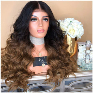 Clearance 21.65'' Lace Front long bob wigs for black women middle part black root Synthetic wigs for daily use party cosplay