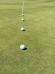 18 putts working back from hole. Excellent for practicing lag putting to hole.