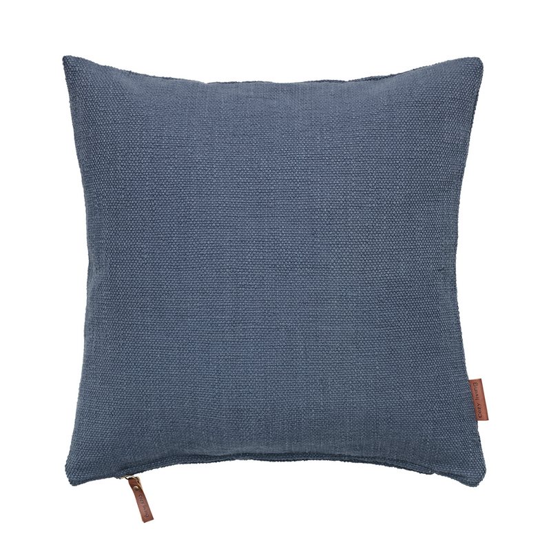 Cotton Heavy Handloom - Handvävd Prydnadskudde | Industrial Blue 50 X 50 Cm