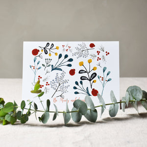 Greeting card - Be merry and bright - listliving