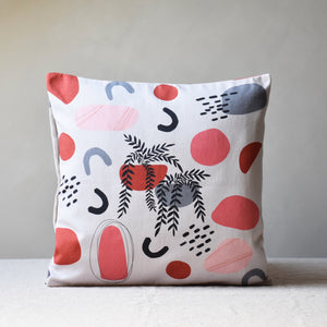 Cushion cover - Abstract shapes with nature motif - listliving