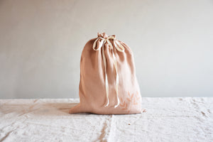 Linen storage bag - Camel send - listliving
