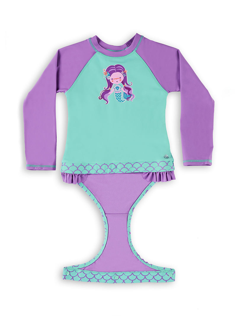 Mer Girl Baby and Toddler Magnetic One-Piece