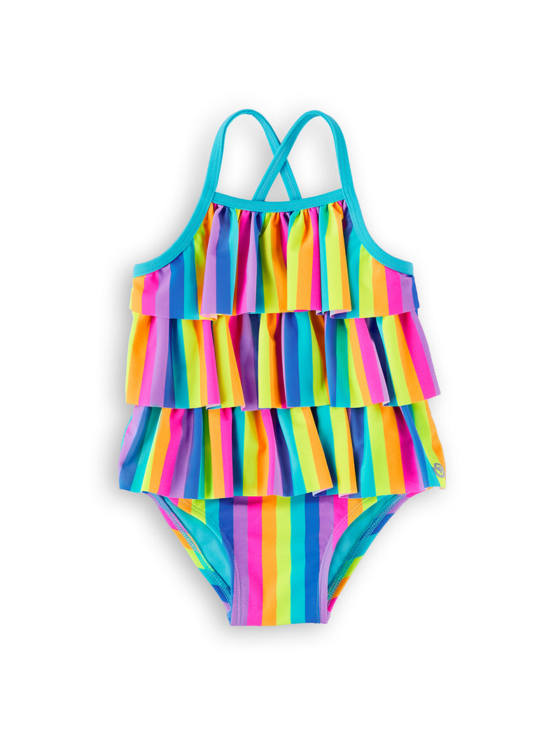 Stripe Festival Baby and Toddler Magnetic One-Piece