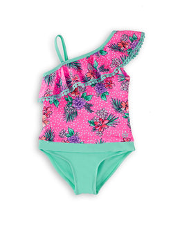 Pow Pow Flower Young Girls Magnetic One-Piece