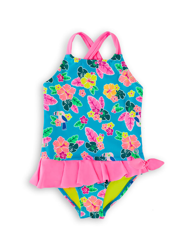 Toucan Too Young Girls Magnetic One-Piece