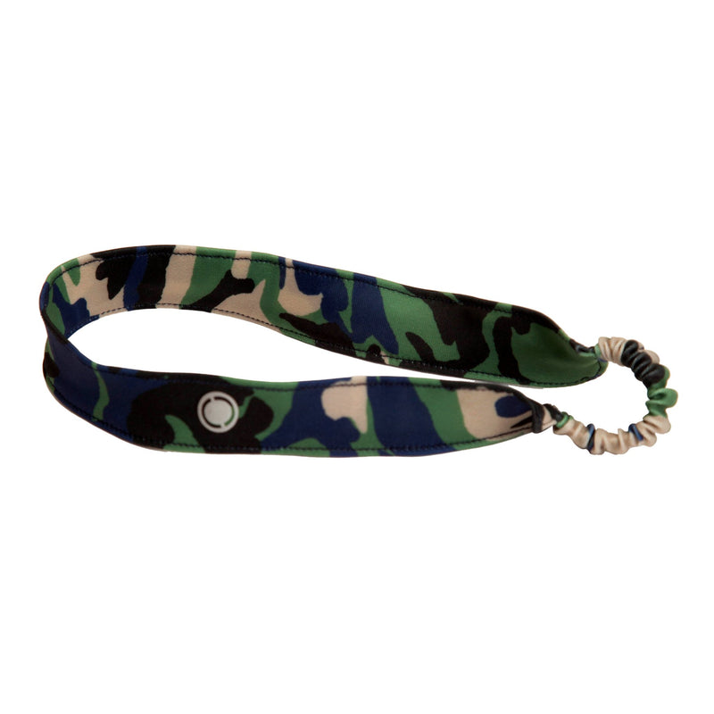 This indigo camo headband from FASTEN is perfect to keep the hair out of your little girl's eyes. Also fits infant girls! Spandex headband is great for beach days and swimming in the pool.