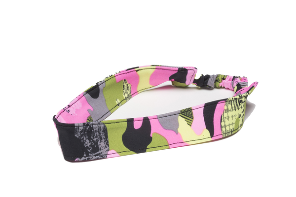 Pink Black Green Camo Headband