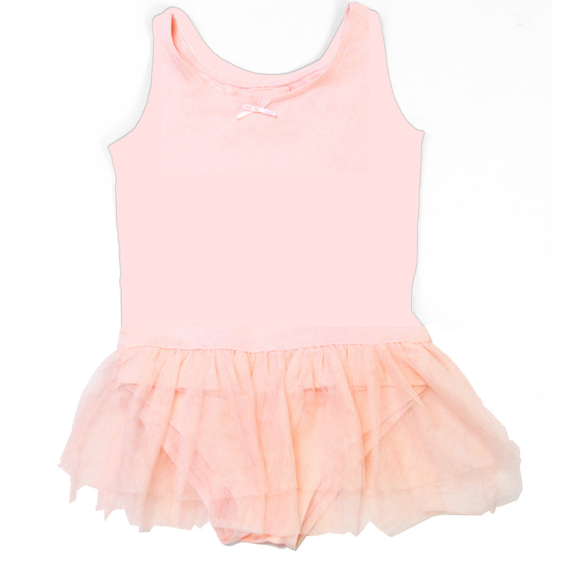 Pink Tank Leotard with Skirt