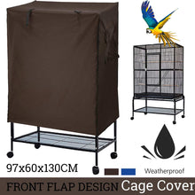 Load image into Gallery viewer, 97x60x130CM Universal sunshade Bird Cage Cover Breathable dustproof Bird Parrot Nests Cover Light proof Cage Cover Bird Supplies