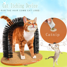 Load image into Gallery viewer, Comfortable Arch Cats Massager Pet Cat Itching Grooming Supplies  Round Fleece Base Kitten Toy Scratching Device Brush for Pets