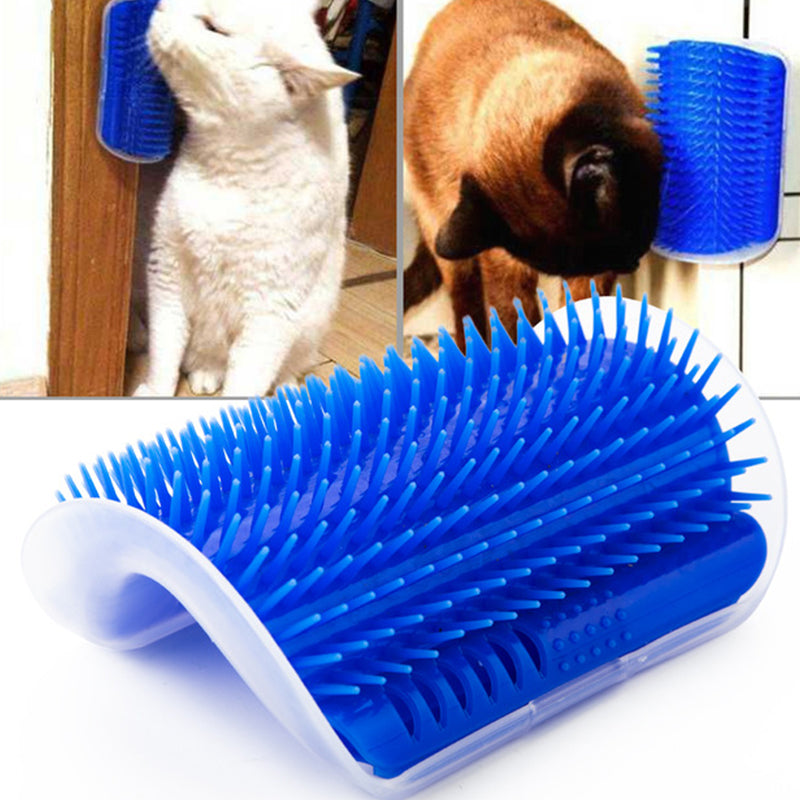 2019 Cat Supplies Cat Massage Device Self Groomer with Catnip Play Toy for Cat Brush Comb Tool Pet Products A
