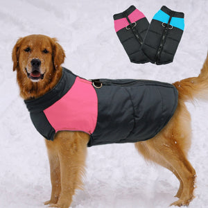New Waterproof Big Dog Vest Jacket Winter Warm Pet Dog Clothes For Small Large Dogs Puppy Pug Coat Dogs Pets Clothing 4XL 5XL