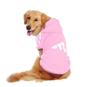 Big Dog Clothes Fleece Winter Dogs Pets Clothing Puppy Clothes for Dogs Print Sport Coat Warm Hooded Jacket for Large Dog Pug