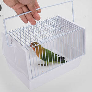 Portable bird cage to carry parrot small bird cage portable cage pillow peony with two feeders birds supplies  WJ1130199