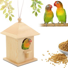 Load image into Gallery viewer, Wooden Bird House Nest Creative Wall-Mounted Wooden Outdoor Bird Nest Birdhouse Wooden Box Pet Supplies Accessories